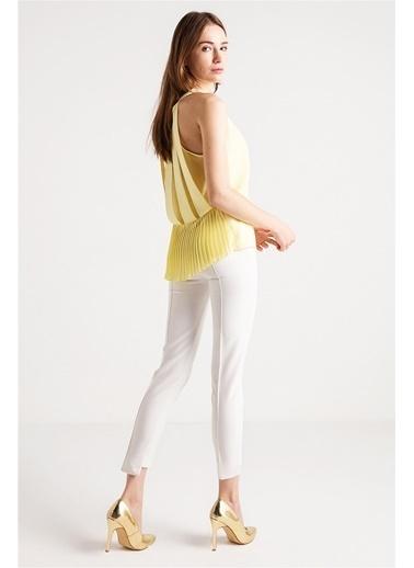 Arkas Bant Ve Plise Detaylı Bluz-Love'n Fashion Paris